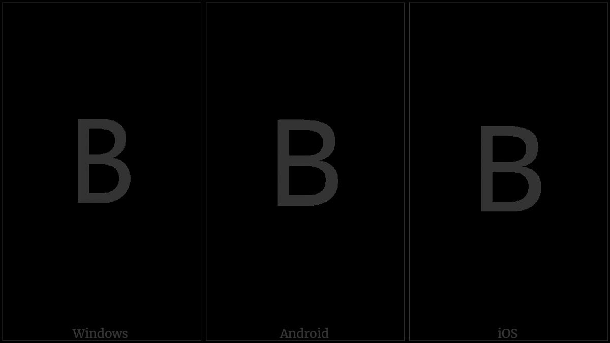 Lisu Letter Ba on various operating systems