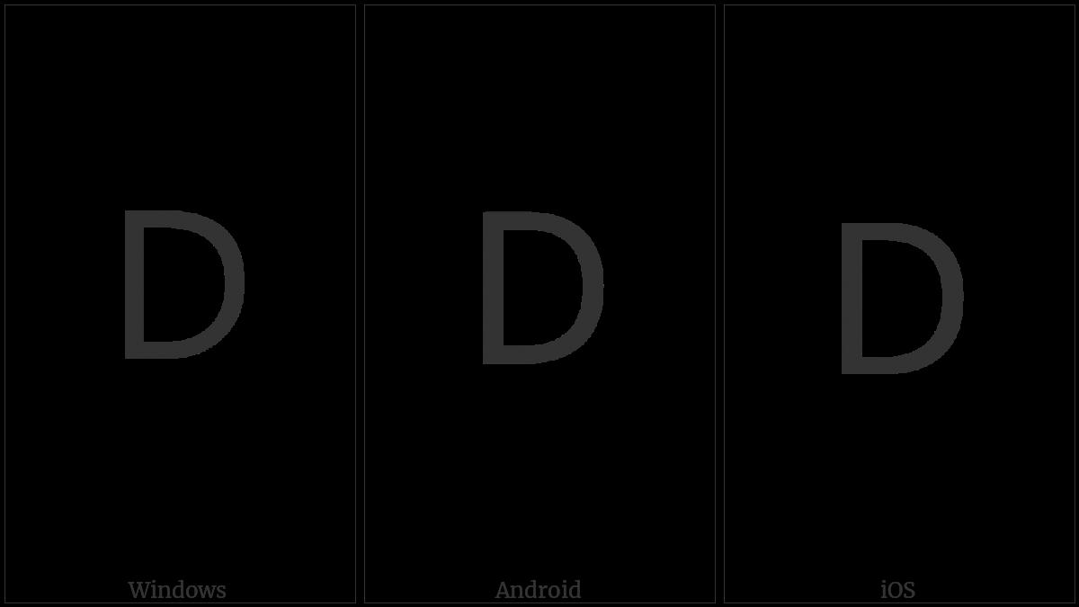 Lisu Letter Da on various operating systems