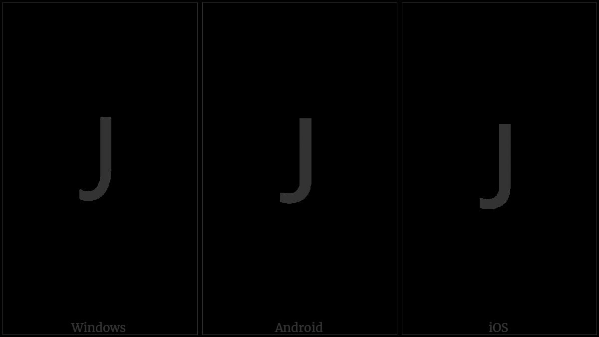 Lisu Letter Ja on various operating systems