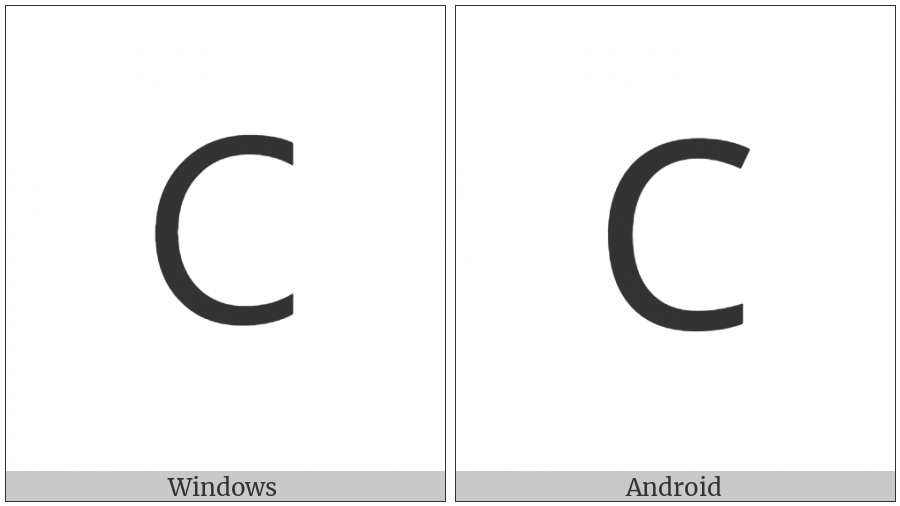 Lisu Letter Ca on various operating systems