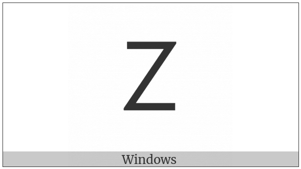 Lisu Letter Dza on various operating systems