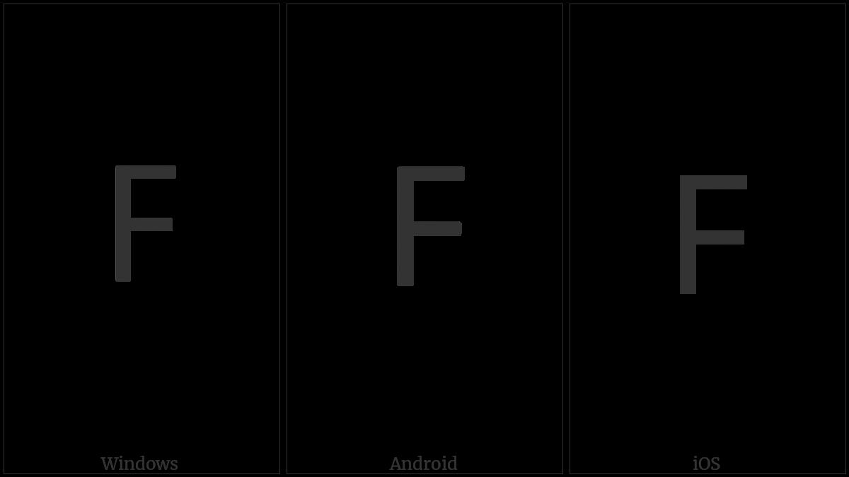 Lisu Letter Tsa on various operating systems