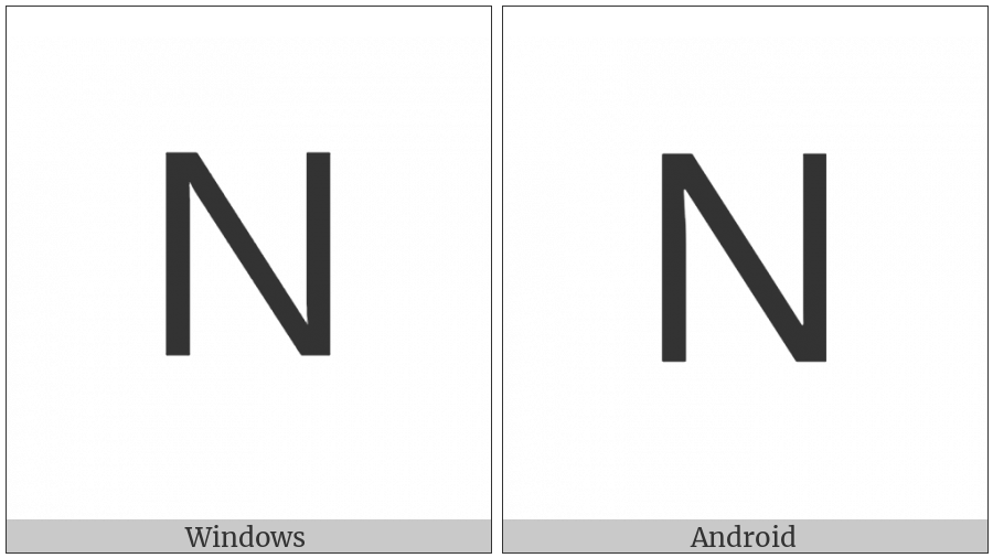 Lisu Letter Na on various operating systems