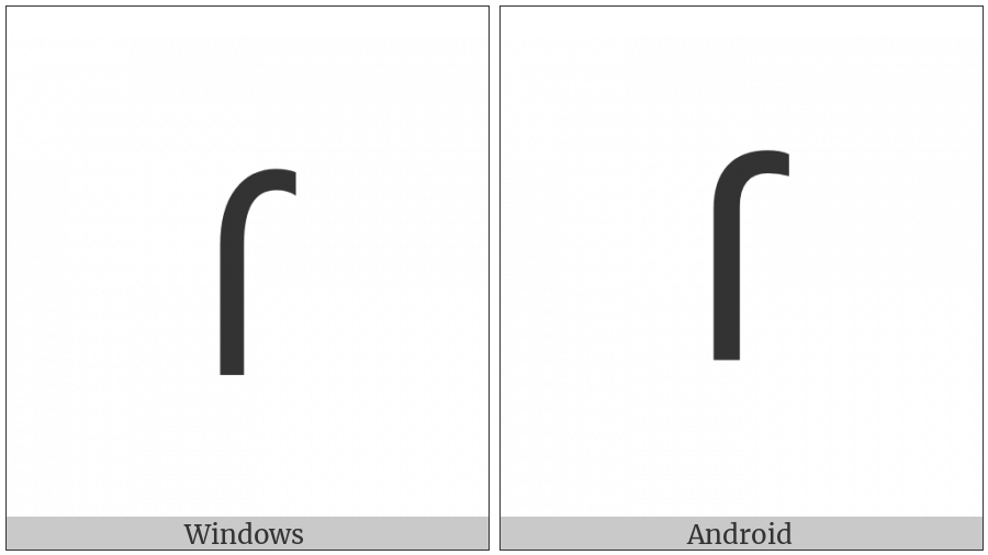 Lisu Letter Fa on various operating systems