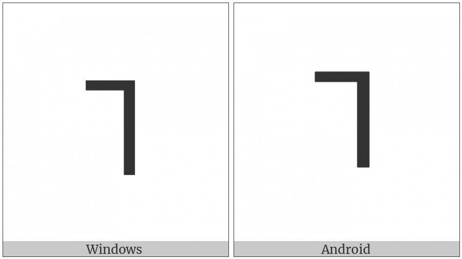 Lisu Letter Uh on various operating systems