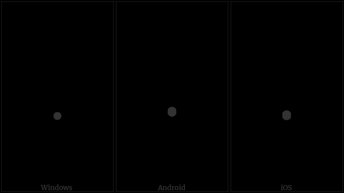 Lisu Letter Tone Mya Ti on various operating systems