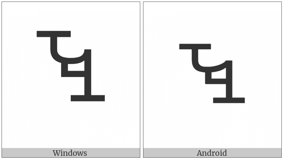 Vai Syllable Wee on various operating systems