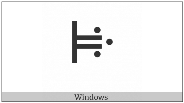 Vai Syllable Njee on various operating systems