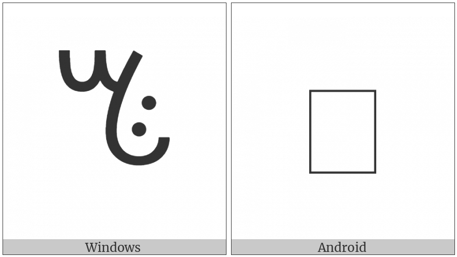 Vai Syllable Ti on various operating systems