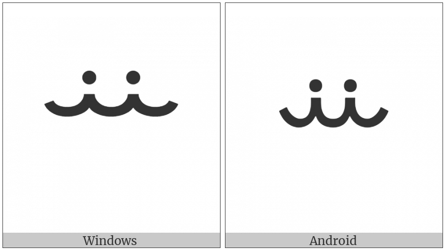 Vai Syllable Nji on various operating systems