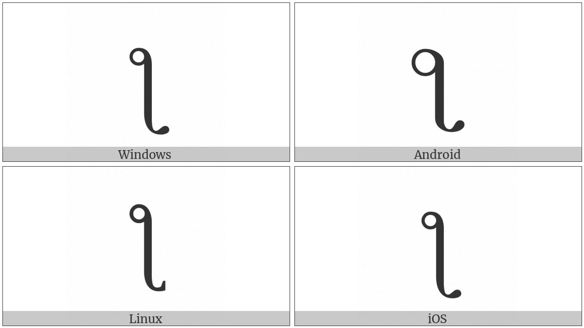 Latin Letter Reversed Esh Loop on various operating systems