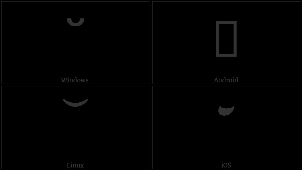 Cyrillic Kavyka on various operating systems
