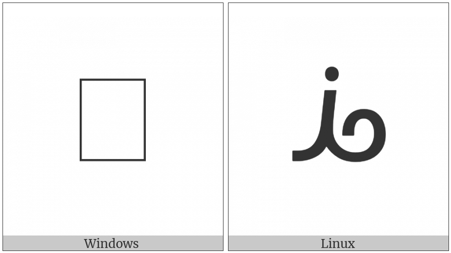 Bamum Letter Ee on various operating systems