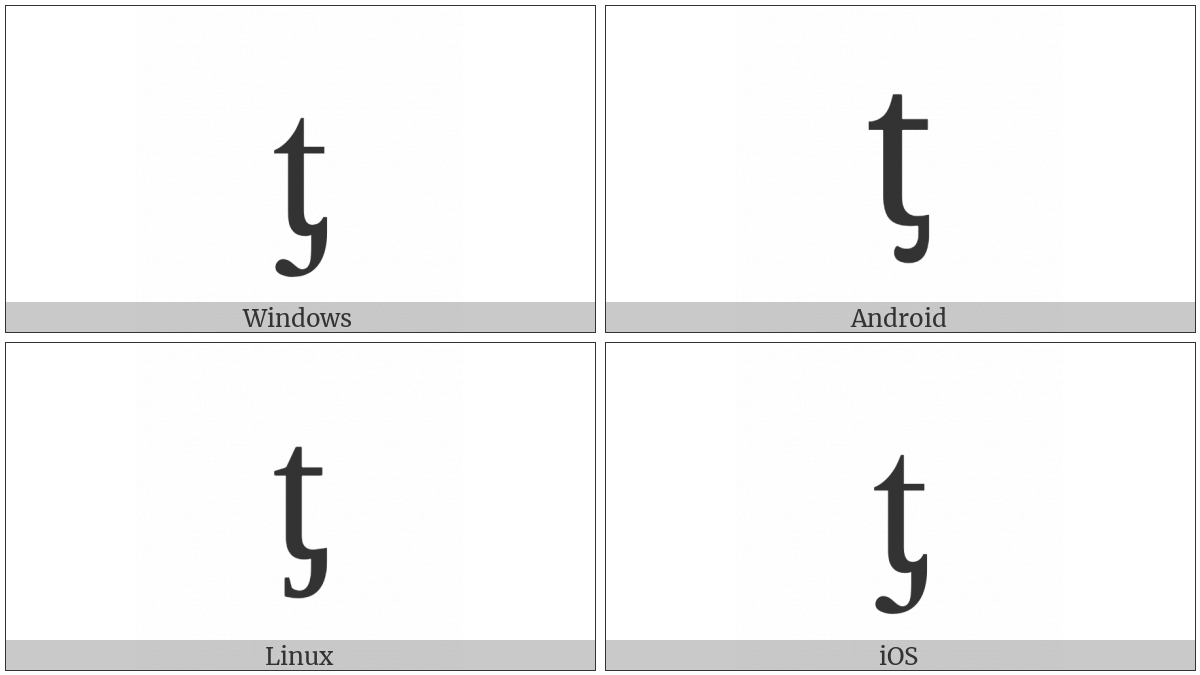 LATIN SMALL LETTER T WITH PALATAL HOOK utf-8 character