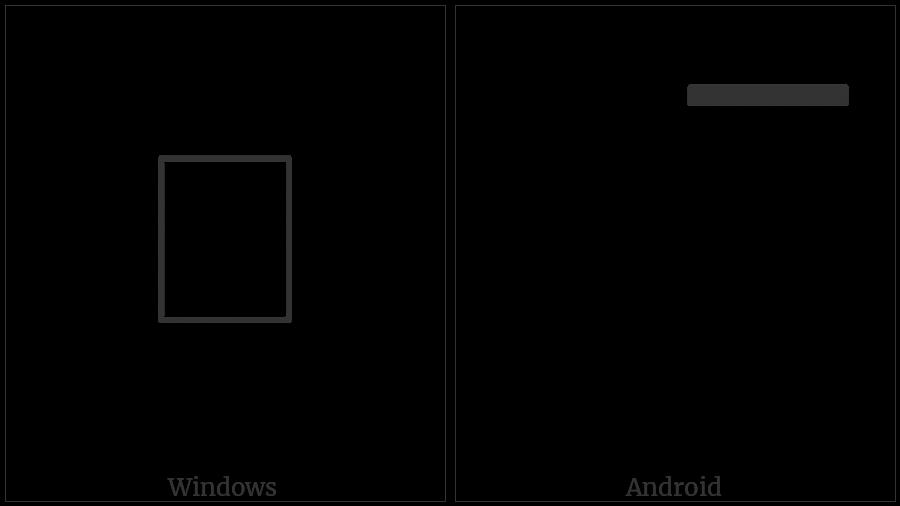 Bamum Combining Mark Tukwentis on various operating systems