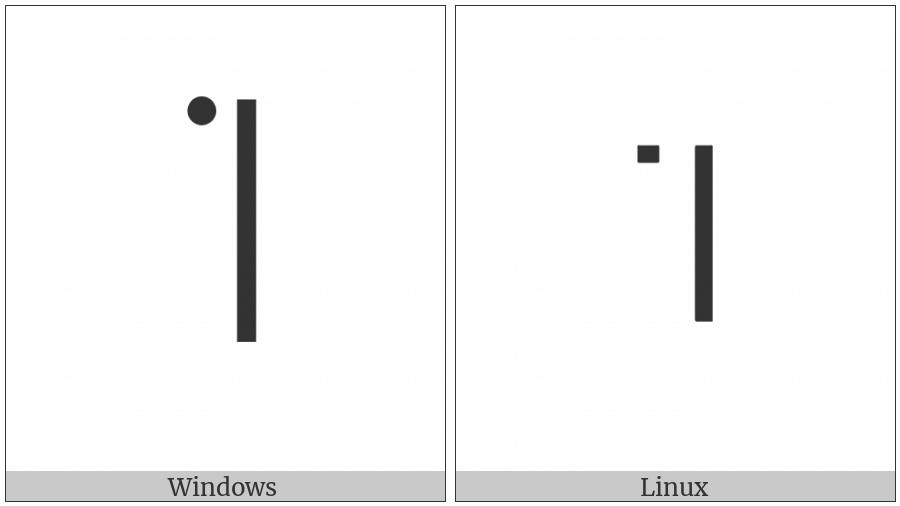 Modifier Letter Extra-High Dotted Tone Bar on various operating systems