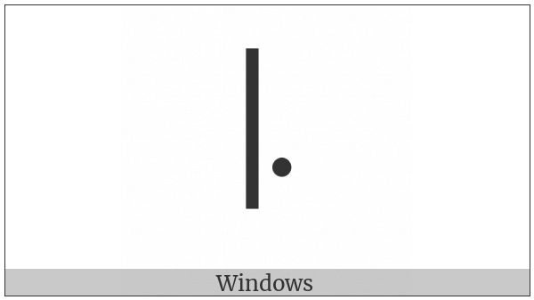 Modifier Letter Low Dotted Left-Stem Tone Bar on various operating systems