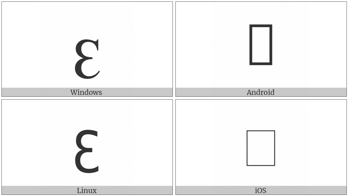 Latin Small Letter Tresillo on various operating systems