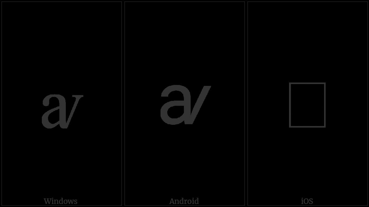 Latin Small Letter Av on various operating systems