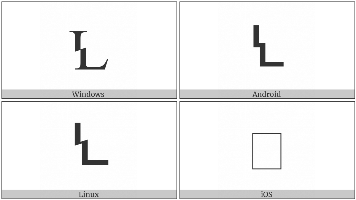 Latin Capital Letter Broken L on various operating systems