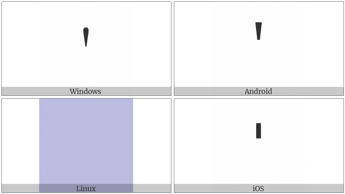 Latin Small Letter Saltillo on various operating systems