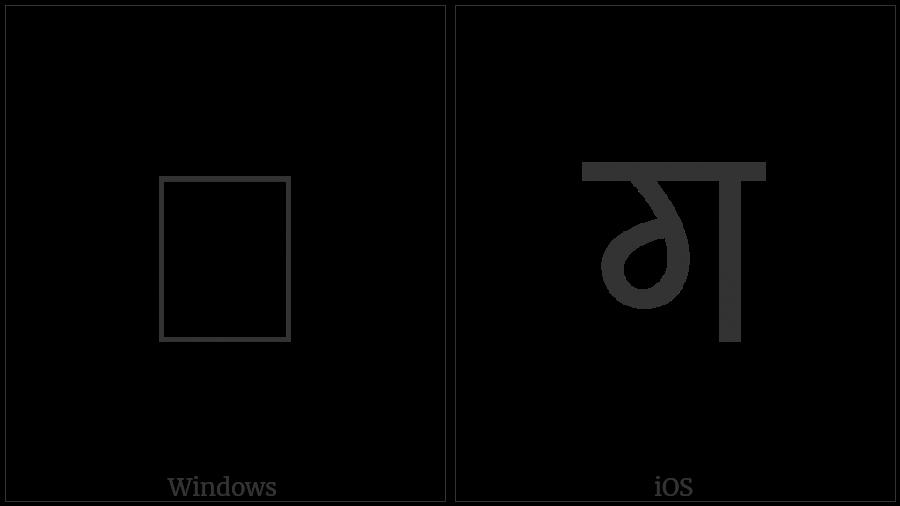Syloti Nagri Letter Go on various operating systems
