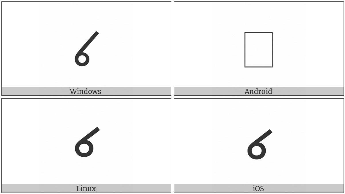 North Indic Placeholder Mark on various operating systems