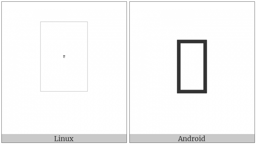 Phags-Pa Letter Kha on various operating systems