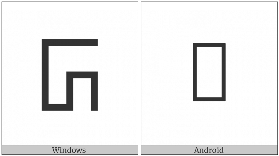 Phags-Pa Letter Sha on various operating systems