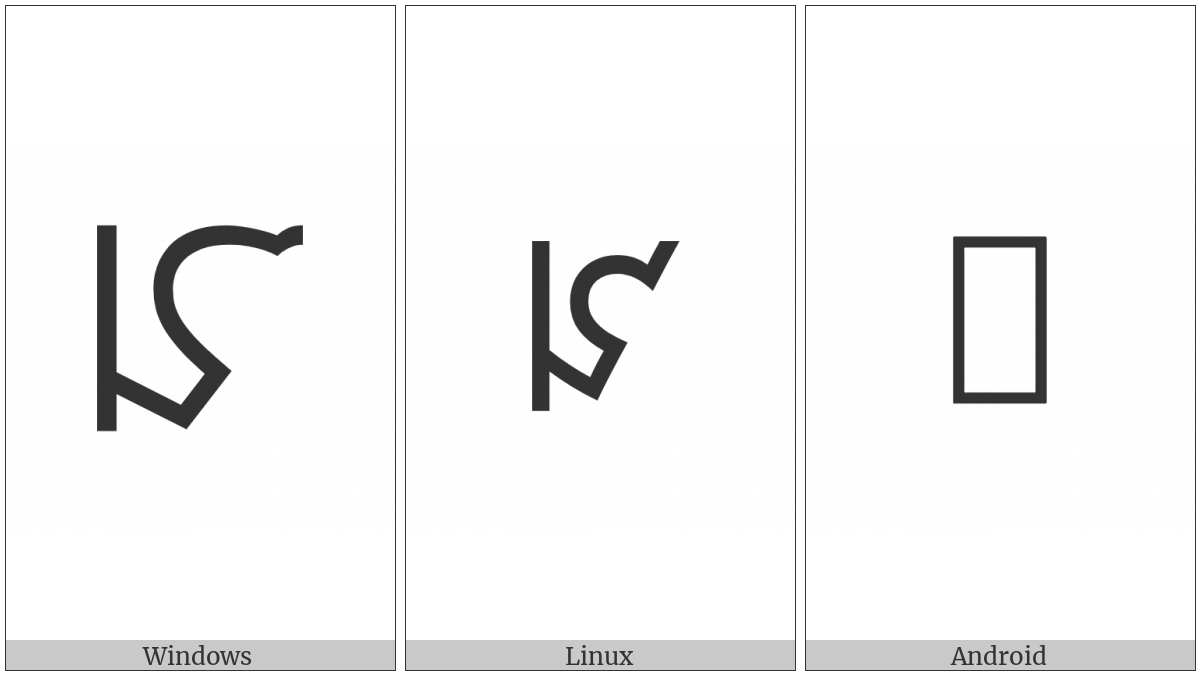 Phags-Pa Letter Ha on various operating systems