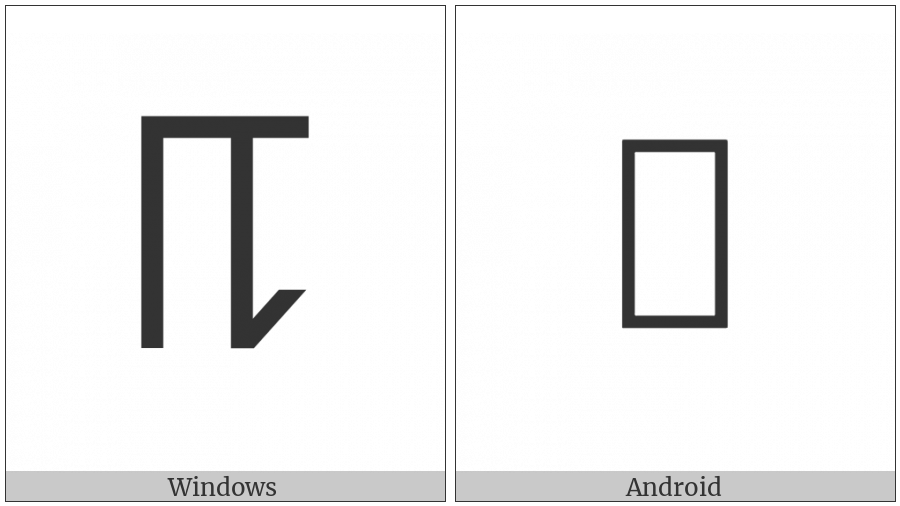 Phags-Pa Letter E on various operating systems