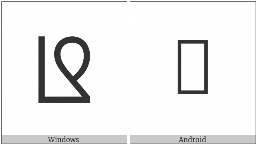 Phags-Pa Letter Nna on various operating systems