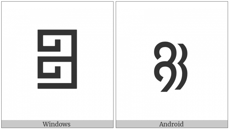 Phags-Pa Double Head Mark on various operating systems