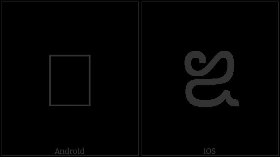 Saurashtra Letter Vocalic Rr on various operating systems
