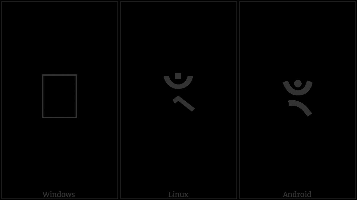 Devanagari Sign Candrabindu Virama on various operating systems