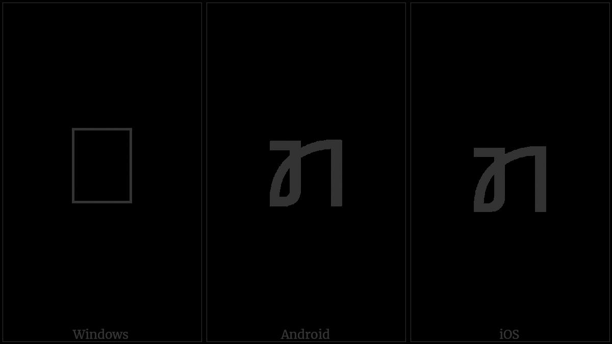 Kayah Li Letter Ka on various operating systems
