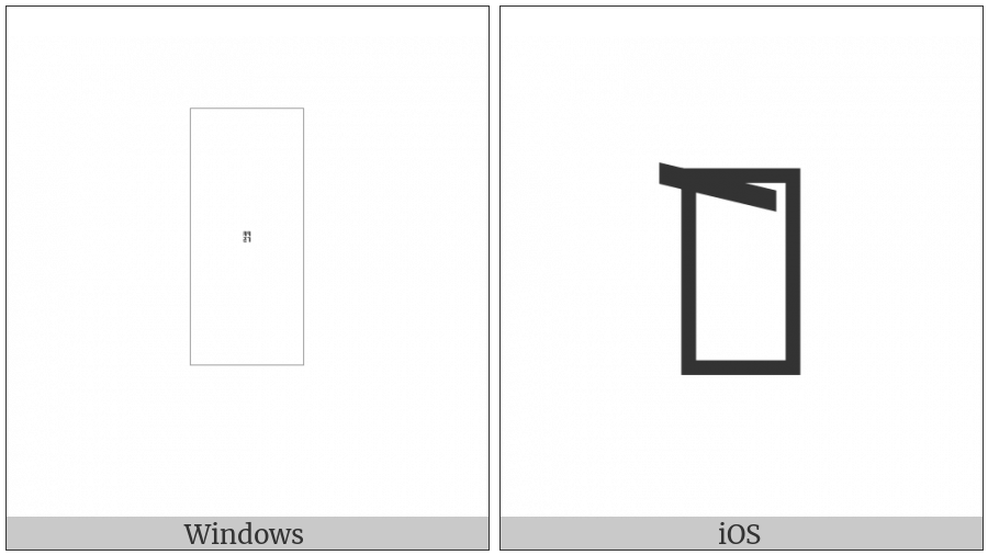 Kayah Li Vowel E on various operating systems