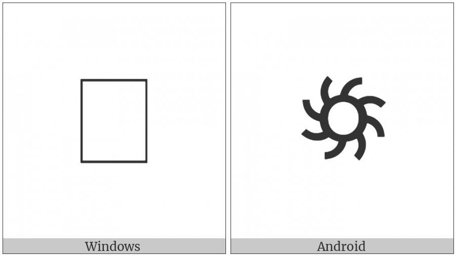 Rejang Section Mark on various operating systems