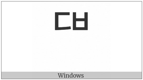 Hangul Choseong Tikeut-Pieup on various operating systems