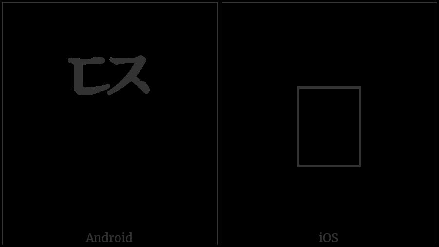 Hangul Choseong Tikeut-Cieuc on various operating systems