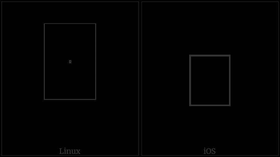 Hangul Choseong Rieul-Tikeut on various operating systems