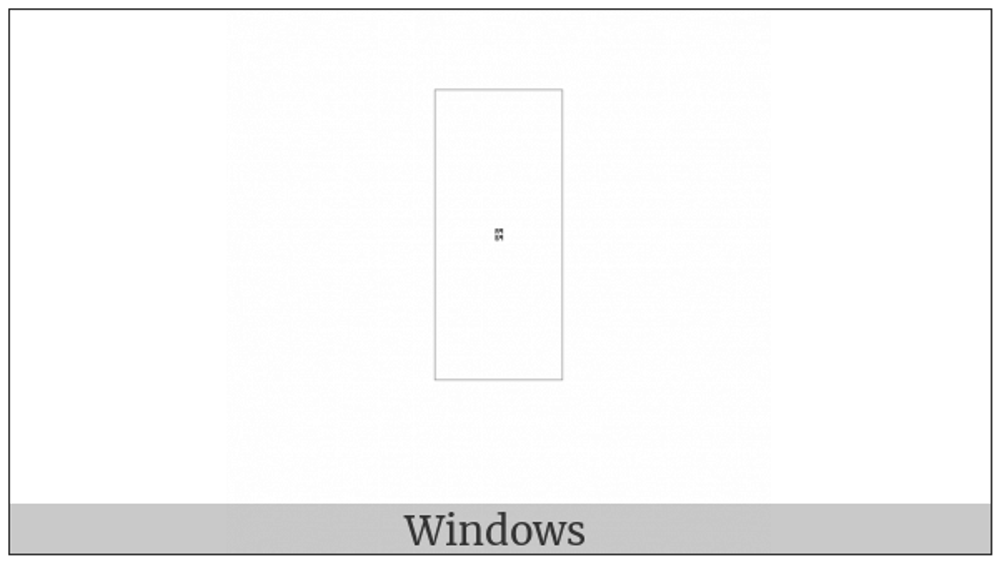 Hangul Choseong Rieul-Pieup on various operating systems