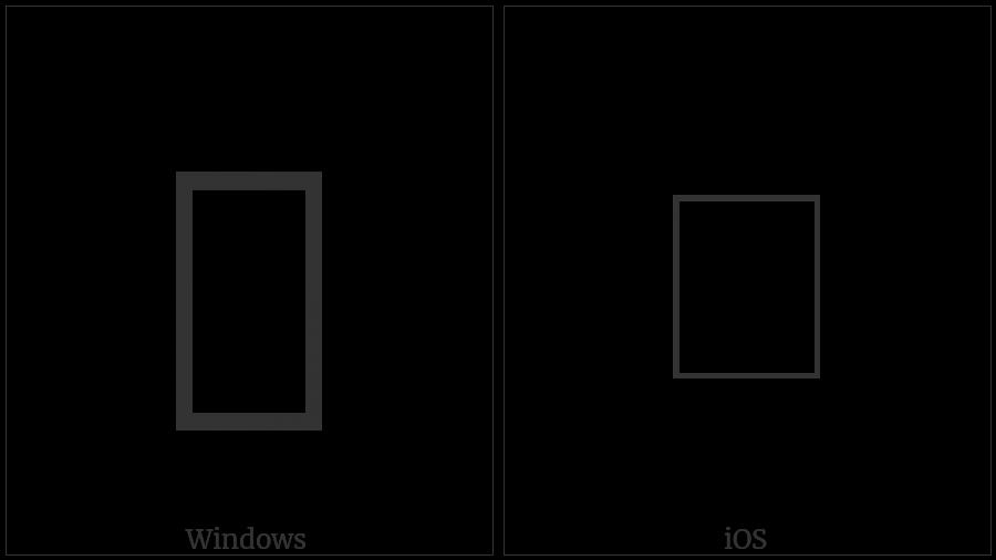 Hangul Choseong Mieum-Kiyeok on various operating systems