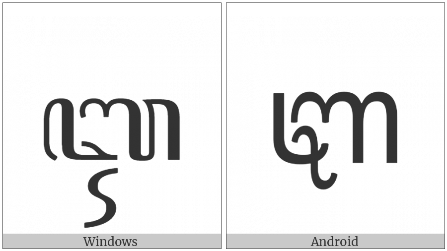 Javanese Letter Ii on various operating systems