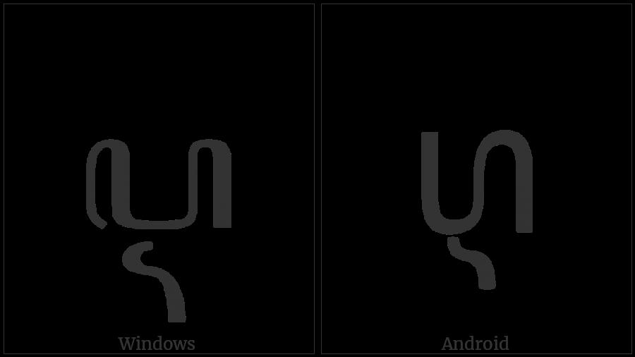 Javanese Letter Pa Cerek on various operating systems