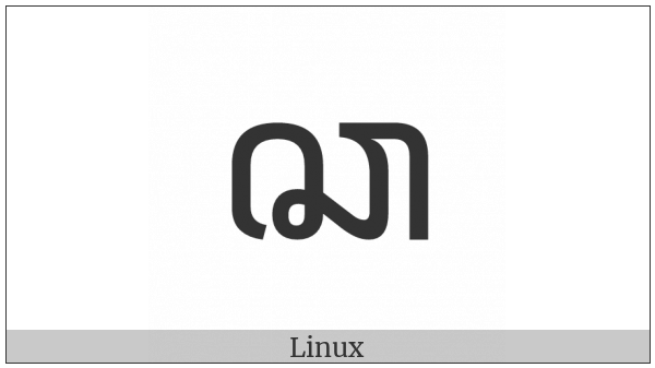 Javanese Letter Ca on various operating systems