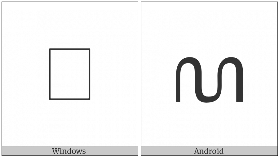 Javanese Letter La on various operating systems