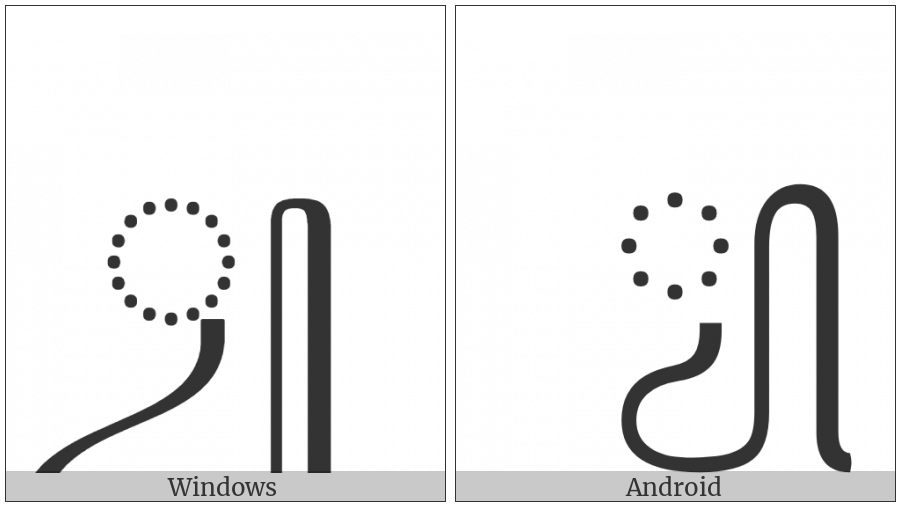 Javanese Consonant Sign Pengkal on various operating systems