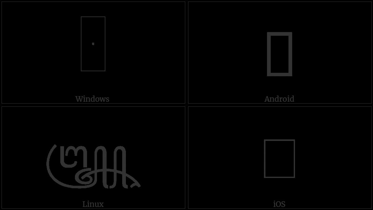 Javanese Pada Madya on various operating systems