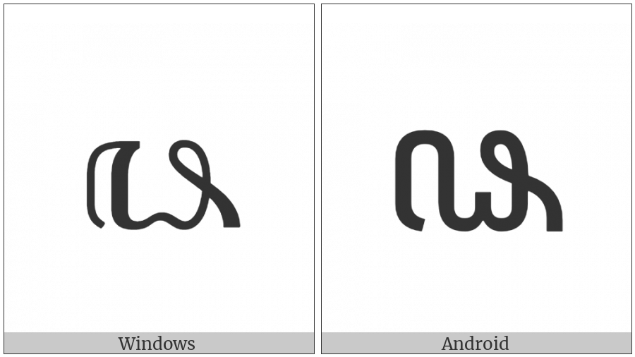 Javanese Digit Eight on various operating systems